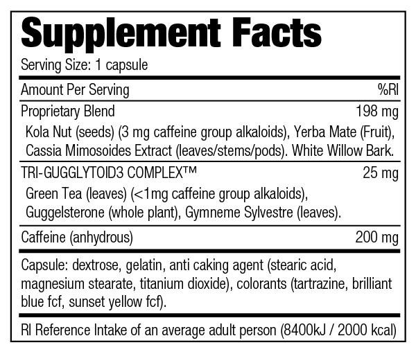 Stacker 2 Ephedra Free - Nutrition Information