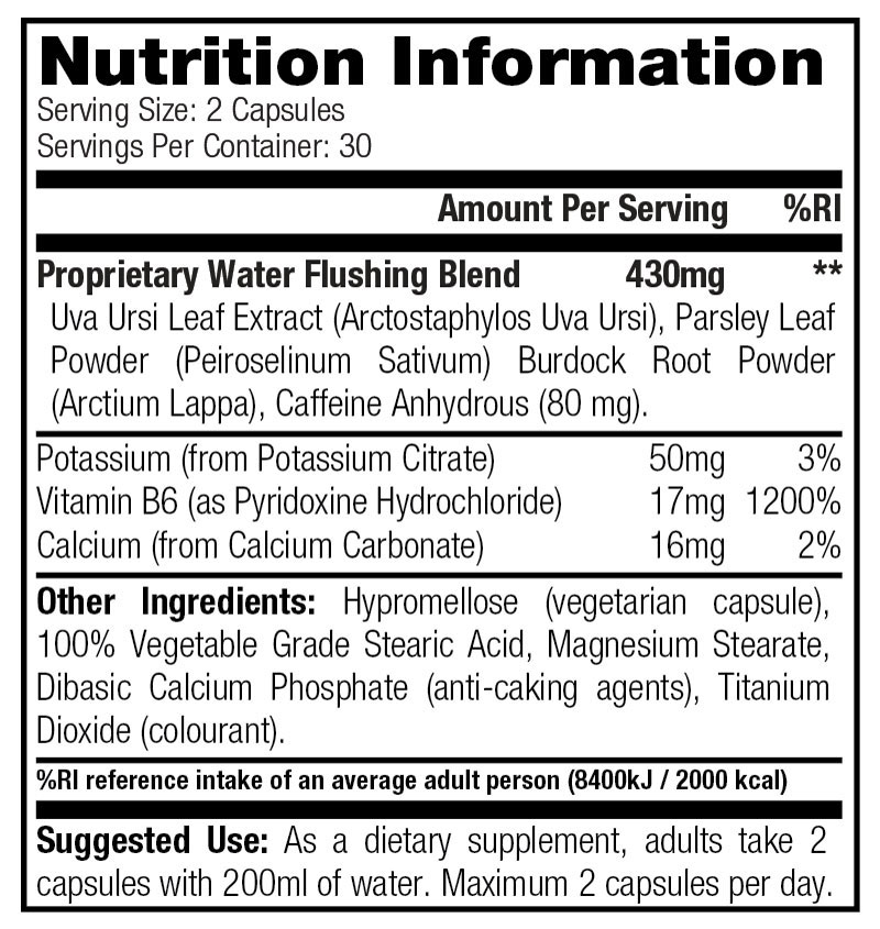 Dexi Flush - Nutrition Information