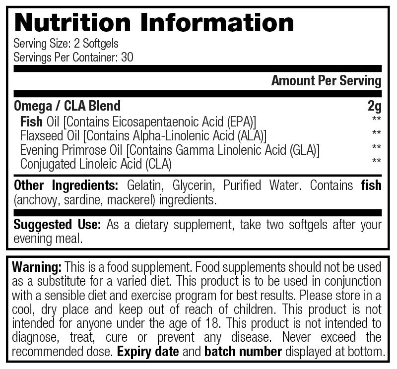Omega 3 - 2000 - Nutrition Information